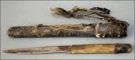 Монгольский средневековый нож в ножнах