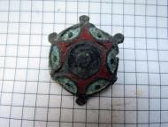 Римская фибула-брошь в эмалях. 2-3 век н. э.