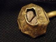 Персень Киевской Руси, узорный 11-12 век, золото