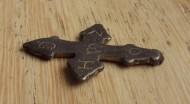 Византийский крест Святой Георгий серебро, золочённые буквы