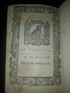 Форзац книги конца 16 века, издававшейся в Венеции