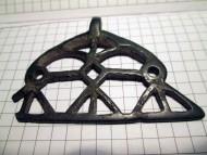 Прорезная бронзовая лунница Киевской культуры