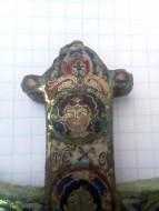 Створка энколпиона Спас Вседержитель в полный рост (перегородчатые эмали) 12 век