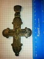 Крест - энколпион. Распятие Христово, Богоматерь Ассунта. 14 век