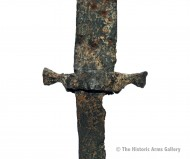 Перекрестье сабли с короткими коническими окончаниями, 7-9 век