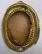 Серебряная позолоченная подвеска с камнем, поздняя Римская Империя
