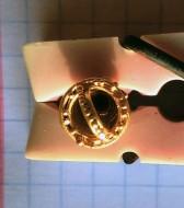 Ведерковидная золотая подвеска ароматница. 3-4 век