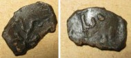 Вислая печать с княжеской тамгой в виде багра, середины 12 века