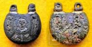 Колт, украшеный цветными эмалями с двух сторон