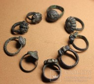 Коллекция перстней периода Киевской Руси -11-12 век