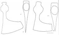 Рис. 53. Булгарские топоры 10-13 вв.: 1 - N 26; 2 - N 25