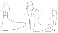 Рис. 54. Булгарские топоры Х-ХIII вв.: I - N 33; 2 - N 36