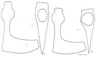 Рис. 52. Боевые топоры 10-13 вв.: 1 - N 35; 2 - N 34