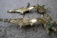 Позолоченные пятипальчатые фибулы Пеньковской культуры