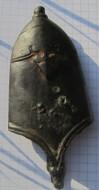 Древнерусский наконечник ножен со стилизованным изображением трилистника-пальметты