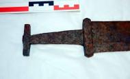 рукоять меча 9-го века, найденного в горах Норвегии