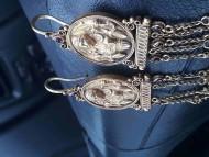 Золотые античные серьги с изображением богини плодородия Деметры
