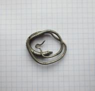Большое височное кольцо из серебра VI-VII в.