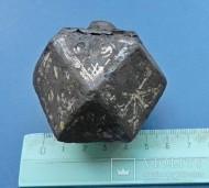 Древнерусская железная булава с инкрустацией белым металлом