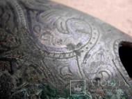 древнерусский наконечник ножен изысканный узор чернением