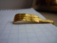 Античное золотое кольцо или часть крепление подвески