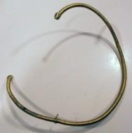 Скифский шейный обруч, плакированый сплавом электра