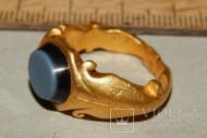 Римский перстень AU, III-IV ст., (18,53 гр.), агат