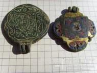 Звенья плечевого украшения эмали, позолота