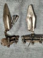 Серебряные фибулы с золотыми вставками
