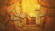 Энколпион: Распятие Христово - Святой Николай. Выемчатые эмали. 13-14вв