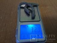 Серебряный браслет Пеньковской культуры, вес 32 грамма