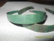 Славянский медный орнаментированный браслет из тонкой пластины с закрученными концами