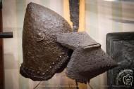 Бацинет с забралом хундсгугель, найденный на территории Украины