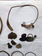 Клад серебряных славянских браслетов, и шейных гривен