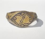 Серебряный в позолоте Золотоордынский перстень