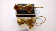 Византийские золотые колты. Хазарский клад 7- начало 8 веков н.э.
