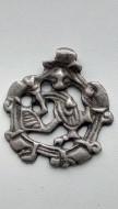 Серебряная скандинавская подвеска «Борьба Сигурда и Змея Фафнира»