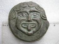 Тетробол Ольвии с изображением Медузы Горгоны с высунутым языком