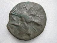 Тетробол Ольвии с изображением Медузы Горгоны