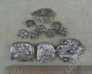Аланские серебряные накладки в зверином стиле
