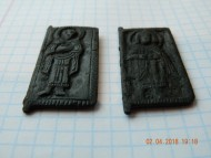 Створки древнерусской иконы-складня «Борис и Глеб»