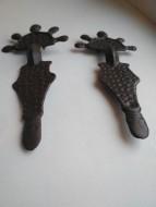 Фибулы пальчиковые, бронзовые, 5-7 век
