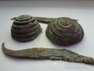 Украшения Трипольской культуры из спирально закрученного медного дрота