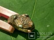 Серебряный в позолоте перстень с тамгой