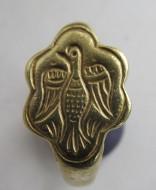Византийское золотое кольцо, с изображением птицы