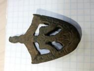 Древнерусский наконечник ножен с пикирующим соколом