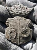 Бронзовая шляхетская геральдическая накладка