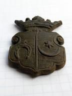 Бронзовая геральдическая накладка с гербами родов Побог и Лели́ва