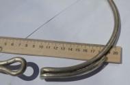 Древнеславянская серебряная шейная гривна