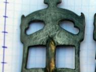 Пара антропозооморфных фибул Пастырского типа Ранние славяне. 7-начало 8 века